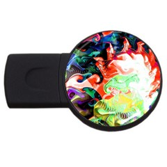 Background Art Abstract Watercolor Usb Flash Drive Round (2 Gb)