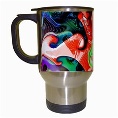 Background Art Abstract Watercolor Travel Mugs (white)