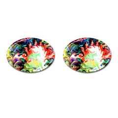 Background Art Abstract Watercolor Cufflinks (oval)