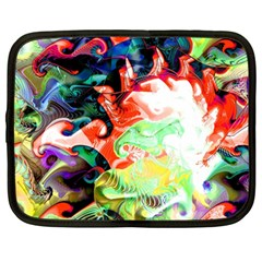 Background Art Abstract Watercolor Netbook Case (large)