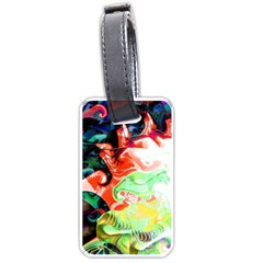 Background Art Abstract Watercolor Luggage Tags (one Side)
