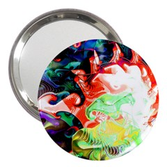 Background Art Abstract Watercolor 3  Handbag Mirrors