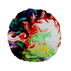 Background Art Abstract Watercolor Standard 15  Premium Round Cushions