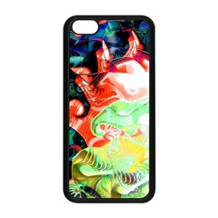 Background Art Abstract Watercolor Apple Iphone 5c Seamless Case (black)