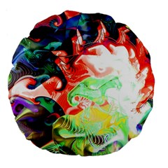 Background Art Abstract Watercolor Large 18  Premium Flano Round Cushions by Nexatart