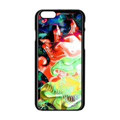 Background Art Abstract Watercolor Apple Iphone 6/6s Black Enamel Case