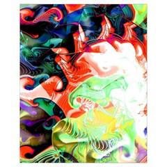 Background Art Abstract Watercolor Drawstring Bag (small)