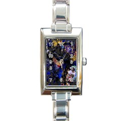 Mask Carnaval Woman Art Abstract Rectangle Italian Charm Watch