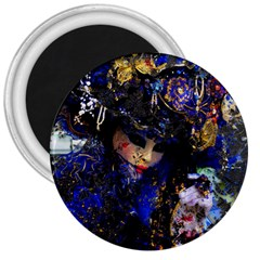 Mask Carnaval Woman Art Abstract 3  Magnets