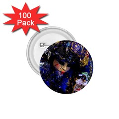 Mask Carnaval Woman Art Abstract 1 75  Buttons (100 Pack)