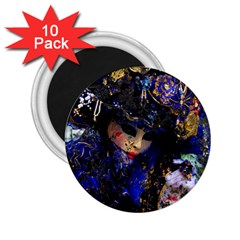 Mask Carnaval Woman Art Abstract 2 25  Magnets (10 Pack)