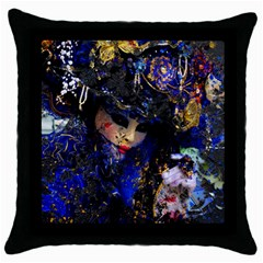 Mask Carnaval Woman Art Abstract Throw Pillow Case (black)
