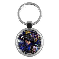 Mask Carnaval Woman Art Abstract Key Chains (round)