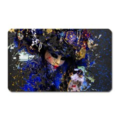 Mask Carnaval Woman Art Abstract Magnet (rectangular)