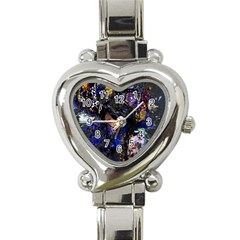 Mask Carnaval Woman Art Abstract Heart Italian Charm Watch