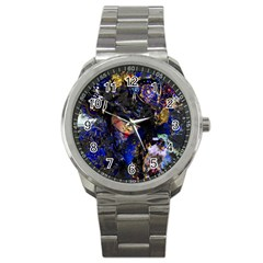 Mask Carnaval Woman Art Abstract Sport Metal Watch