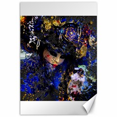 Mask Carnaval Woman Art Abstract Canvas 12  X 18