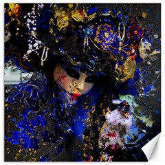 Mask Carnaval Woman Art Abstract Canvas 16  X 16