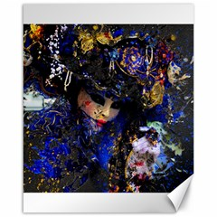 Mask Carnaval Woman Art Abstract Canvas 16  X 20