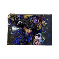 Mask Carnaval Woman Art Abstract Cosmetic Bag (large)