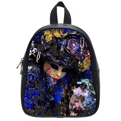 Mask Carnaval Woman Art Abstract School Bag (small)