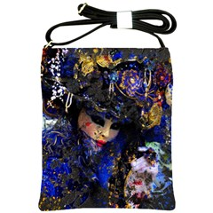 Mask Carnaval Woman Art Abstract Shoulder Sling Bags by Nexatart