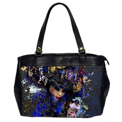 Mask Carnaval Woman Art Abstract Office Handbags (2 Sides)
