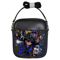 Mask Carnaval Woman Art Abstract Girls Sling Bags