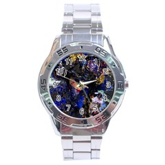 Mask Carnaval Woman Art Abstract Stainless Steel Analogue Watch