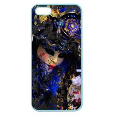 Mask Carnaval Woman Art Abstract Apple Seamless Iphone 5 Case (color)