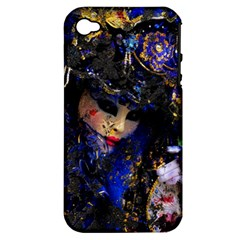 Mask Carnaval Woman Art Abstract Apple Iphone 4/4s Hardshell Case (pc+silicone) by Nexatart