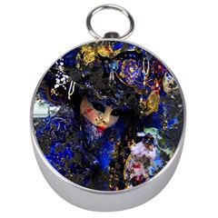 Mask Carnaval Woman Art Abstract Silver Compasses