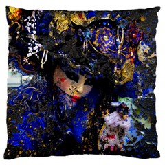 Mask Carnaval Woman Art Abstract Standard Flano Cushion Case (one Side)