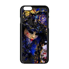 Mask Carnaval Woman Art Abstract Apple Iphone 6/6s Black Enamel Case by Nexatart