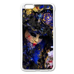 Mask Carnaval Woman Art Abstract Apple Iphone 6 Plus/6s Plus Enamel White Case