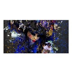 Mask Carnaval Woman Art Abstract Satin Shawl