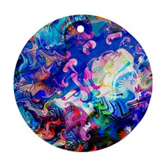 Background Art Abstract Watercolor Ornament (round)