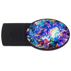 Background Art Abstract Watercolor Usb Flash Drive Oval (4 Gb)
