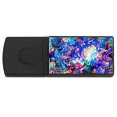 Background Art Abstract Watercolor Rectangular Usb Flash Drive