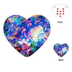 Background Art Abstract Watercolor Playing Cards (heart)