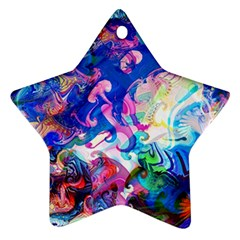 Background Art Abstract Watercolor Star Ornament (two Sides)