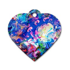 Background Art Abstract Watercolor Dog Tag Heart (one Side) by Nexatart