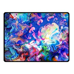 Background Art Abstract Watercolor Fleece Blanket (small)
