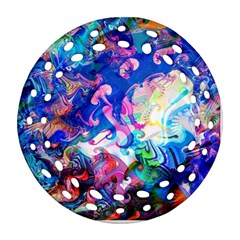 Background Art Abstract Watercolor Ornament (round Filigree)