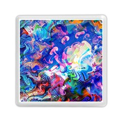 Background Art Abstract Watercolor Memory Card Reader (square)  by Nexatart