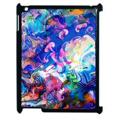 Background Art Abstract Watercolor Apple Ipad 2 Case (black) by Nexatart