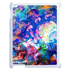 Background Art Abstract Watercolor Apple Ipad 2 Case (white)