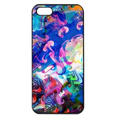 Background Art Abstract Watercolor Apple Iphone 5 Seamless Case (black)