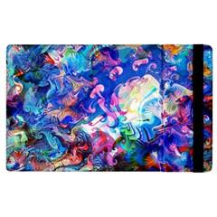 Background Art Abstract Watercolor Apple Ipad 3/4 Flip Case by Nexatart