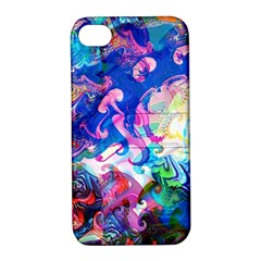 Background Art Abstract Watercolor Apple Iphone 4/4s Hardshell Case With Stand
